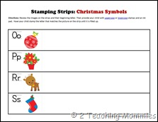 Stamping Strips Christmas Symbols