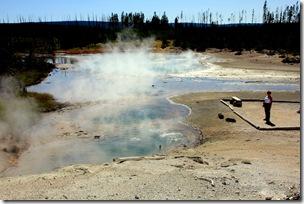 Kay in Norris Geyser Basin, Yellowstone NP