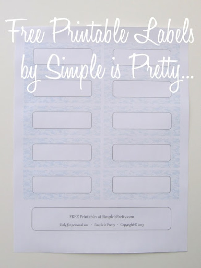 Label printables