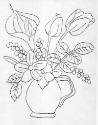 Free coloring pages of florero para colorear
