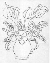 Free coloring pages of florero para colorear