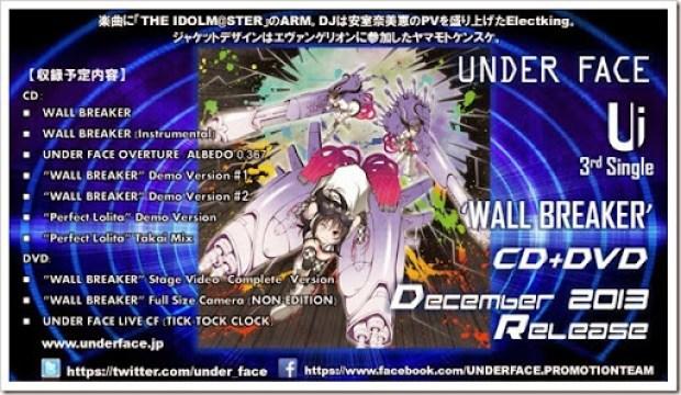 UNDER FACE - WALL BREAKER 3rd single