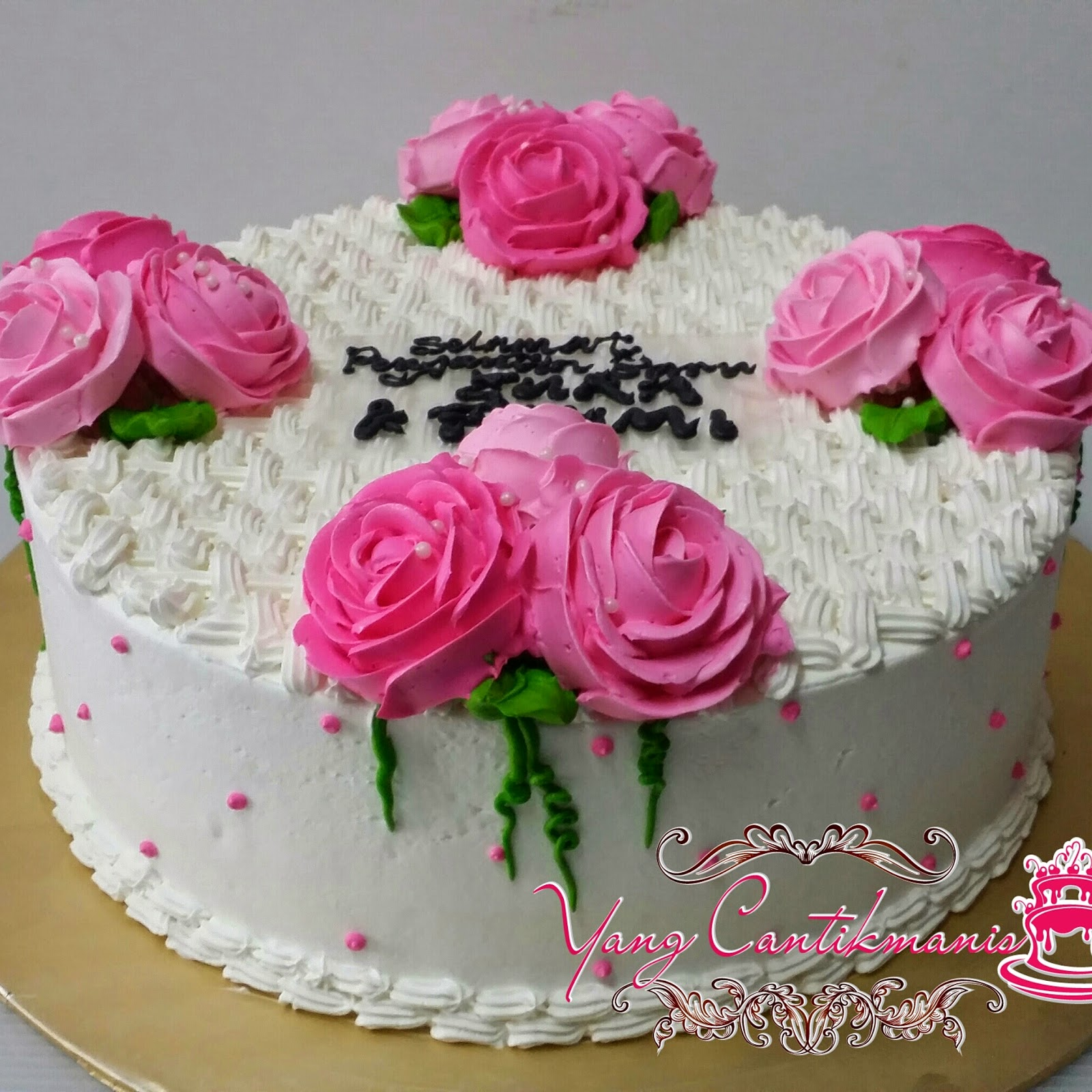 Yang Cantikmanis Bake Shoppe  Kek Kahwin Single Pink  Putih