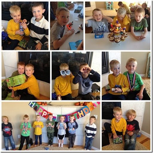 birthday party collage