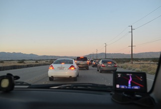 No matter how we try to get back across the valley, there always seems to be construction slowdowns