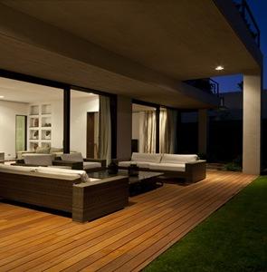 muebles terraza casa moderna