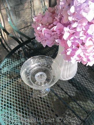 soap dish made from repurposed glassware