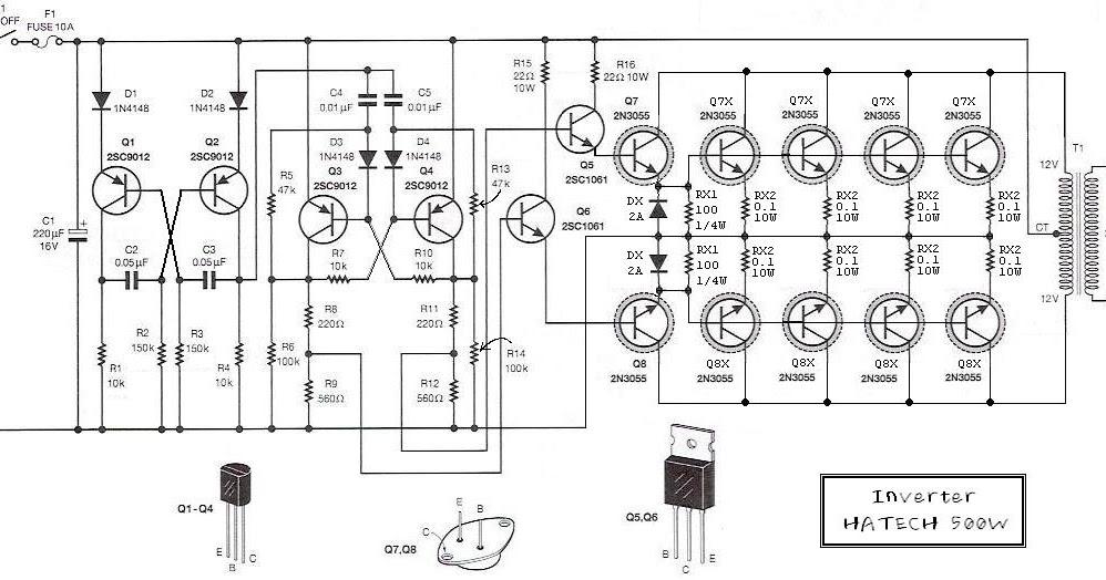 hobi elektronika: Kumpulan rangkaian inverter (perubah