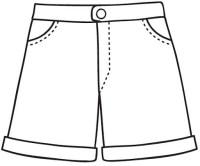Dibujo para colorear de pantalon - Imagui