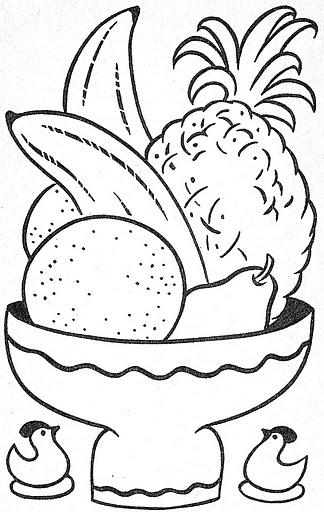Dibujos Frutas En Para Colorear De Fruteros
