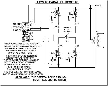 rangkaian-inverter-1000-watt-Mosfet-Parallel