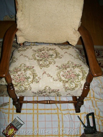 recovering antique rocker