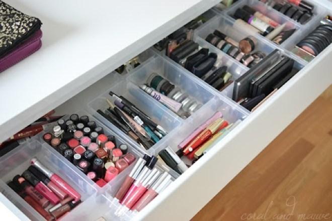 Kosmetik Aufbewahrung Ikea einblicke in meine kosmetikaufbewahrung coral and mauve