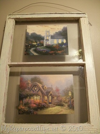 Thomas Kinkaid Decoupaged Window