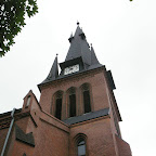 Clock tower of the Mary Magdalene parish in Chorzów Stary.