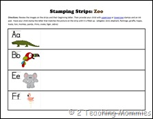 Stamping Strips Zoo