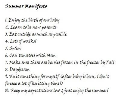 summer manifesto
