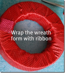 wrap with ribbon