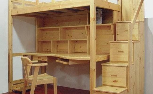 Meja Belajar Anak Tempat Tidur Tingkat Faris Wooden