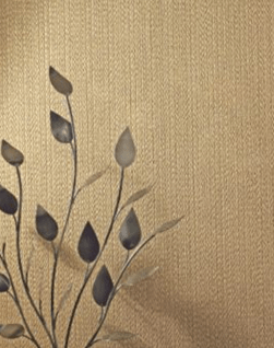 a Wallpaper in Gold with a Textured Vinyl finish