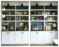 How to accessorize bookcases from Thrifty Decor Chick