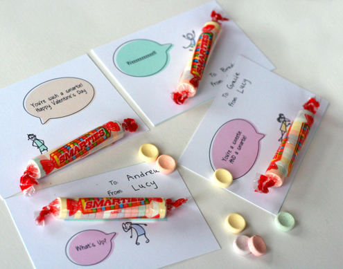Smarties Valentine's Day Card Printable by Parent Hacks