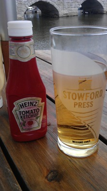 Ahhh, Ketchup and a Cider - part of my 'five a day'