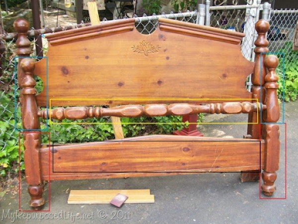repurposed headboard into bench (2a)
