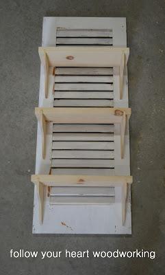 Repurposed Shutter Shelf 9