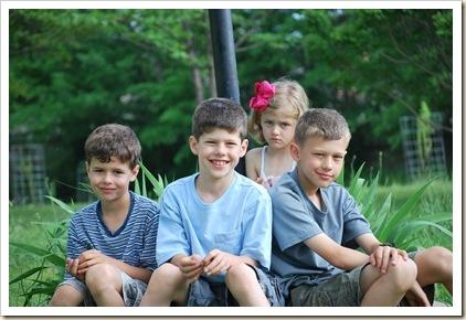sad sister with boys