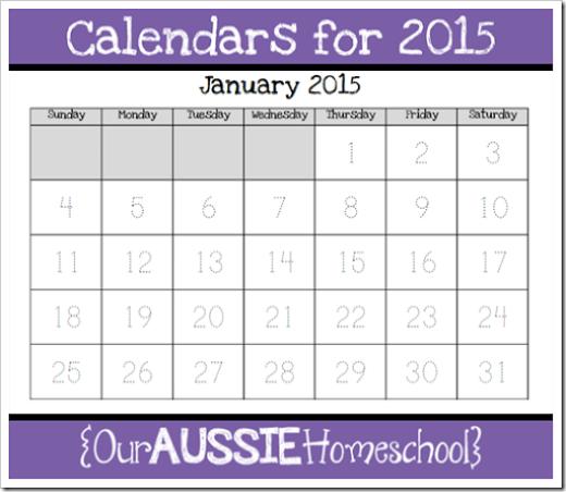 Calendar Notebook Homeschool : Calendar notebook calendars for our aussie homeschool