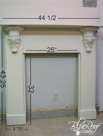 Faux Fireplace Mantel dimensions 8
