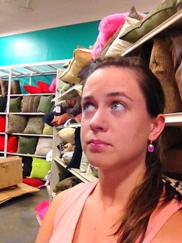aisles of pillows