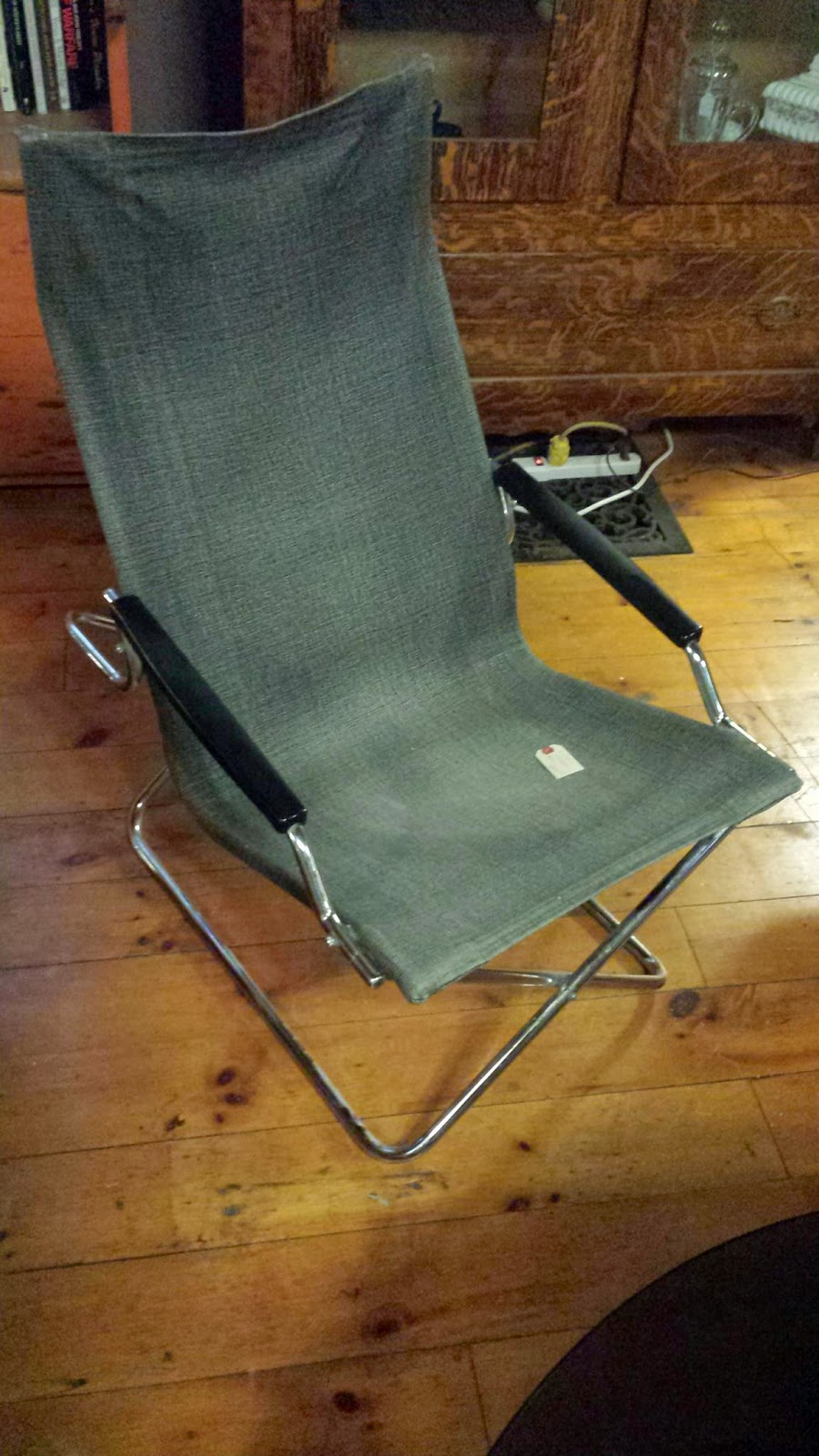 folding z chair upholstered wingback dining chairs sanctuary antiques by uchida japan