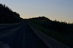 on the road at dawn from Irons creek
