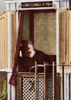 Padre Pio no confessionário