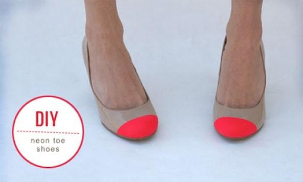 neon toe shoes