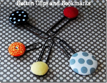 button clips and bookmarks