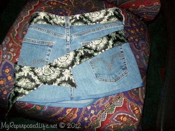 repurposed blue jeans