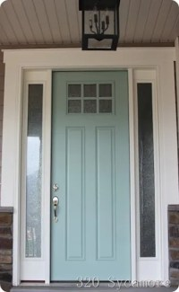 Curb Appeal {Front Door Inspiration + Paint Colors