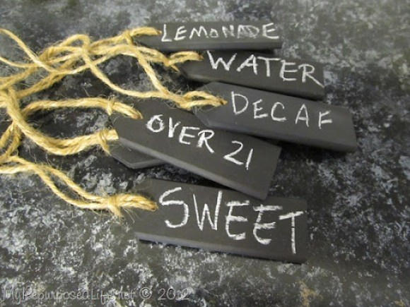Chalkboard Beverage Tags
