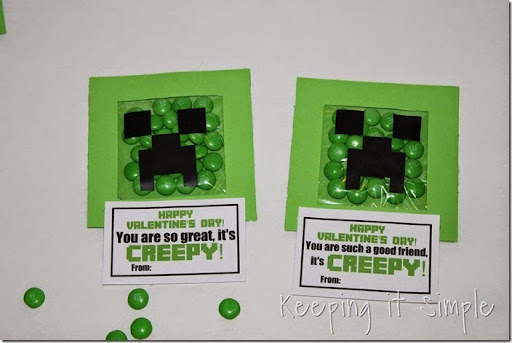 Minecraft Creeper DIY Valentine and Party Favor (16)