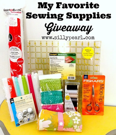 Giveaway - Favorite Sewing Supplies and a Tote - The Silly Pearl