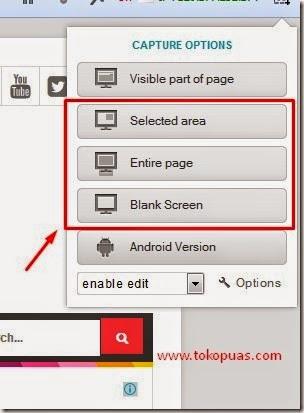 pilihan gambar screenshot yang bisa di pilih