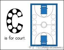 Basketball Magnet Pages