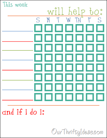 Our Thrifty Ideas: Printable chore chart