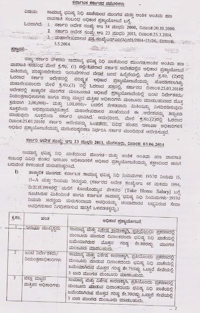 Karnataka government employee's News By VijayMK: Gpf