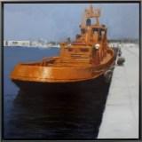 """""""Motril III-Amarre en el dique seco"""" Bernardino Sánchez Bayo, """"I Concurso de Pintura Puerto de Ferrol"""""""