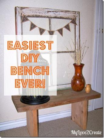 easy DIY bench