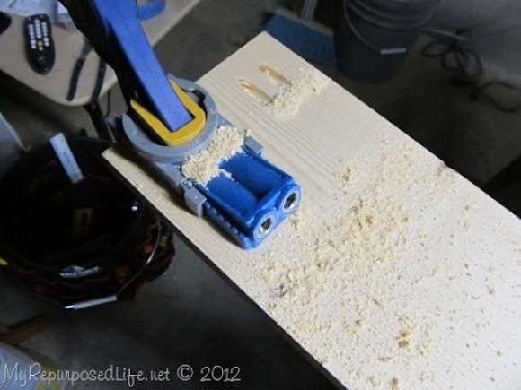 pocket hole joinery headboard bench tutorial
